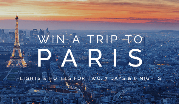 Win a trip to paris for two!