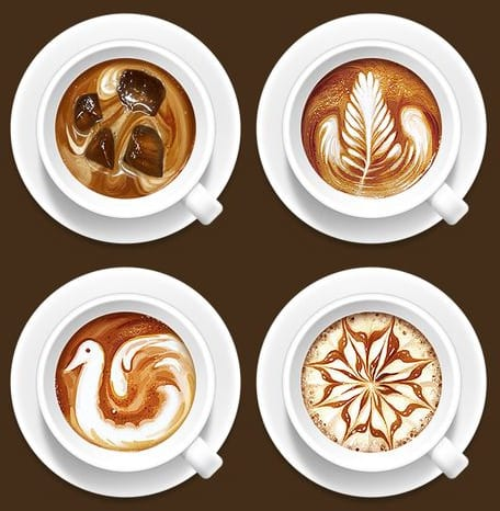 best coffee art; good first date; date idea