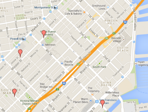 Best coffee shops; San Francisco map; Soma coffee; first date idea