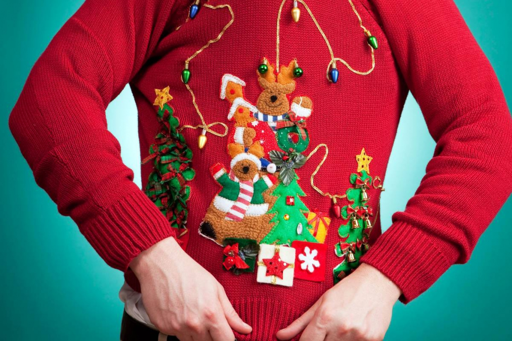 ugly christmas sweaters, ugly sweater party, christmas date ideas, creative date ideas