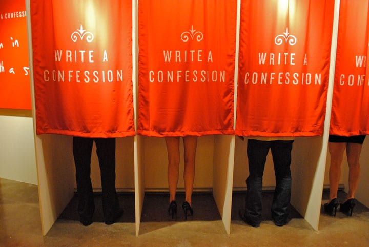 Whisper, confessions, booth, confession booth
