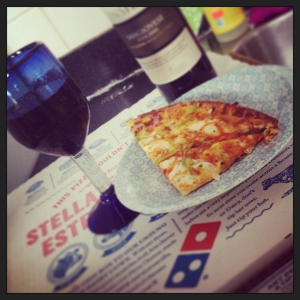 dominos and wine