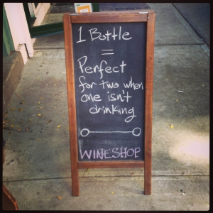 wine sandwich board