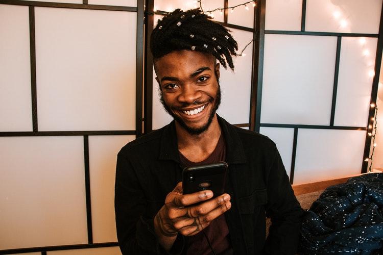 smiling phone